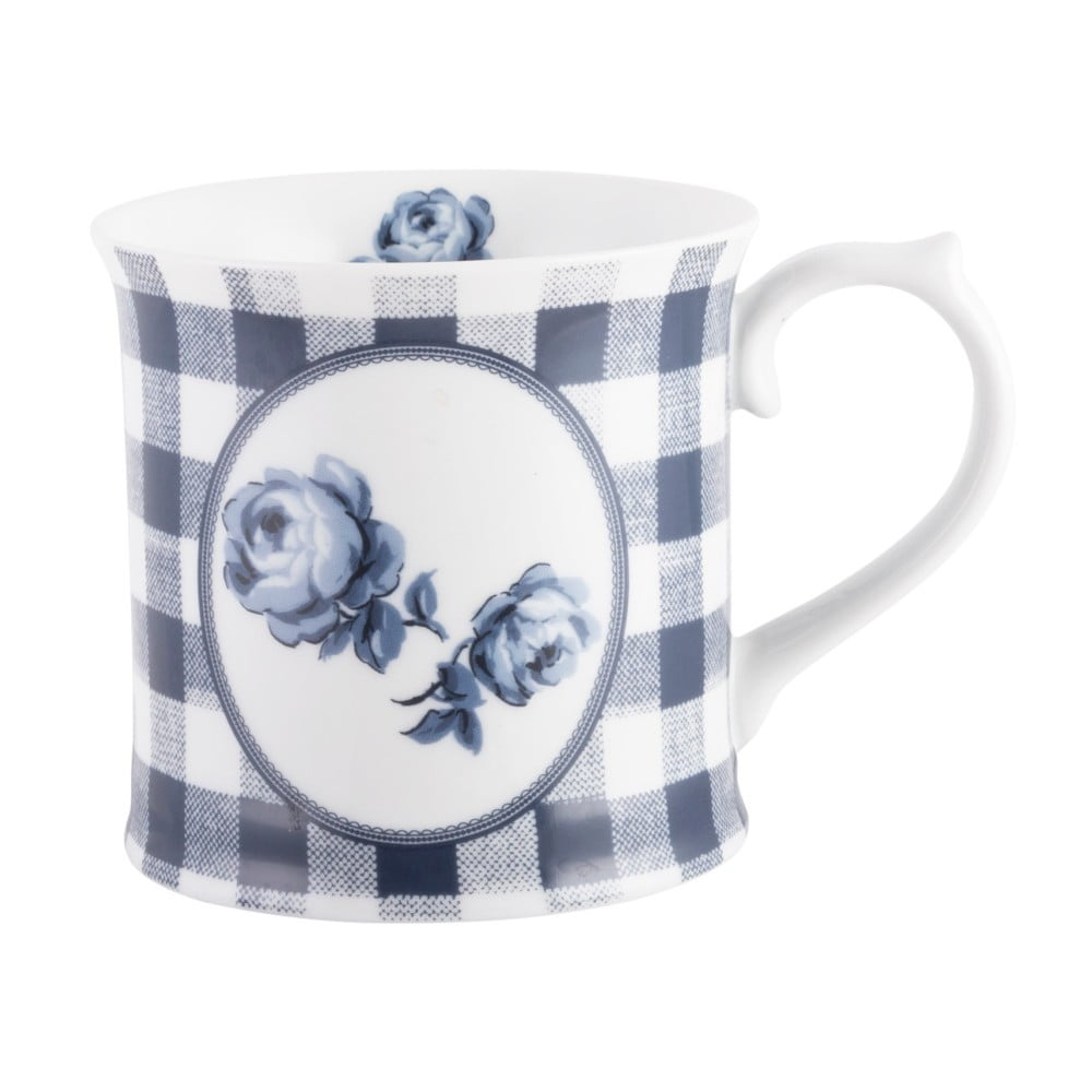 Porcelánový hrnček Creative Tops Gingham Floral, 400 ml