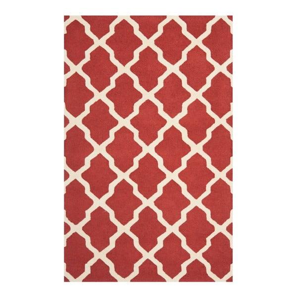 Vlnený koberec Ava Red, 182x274 cm
