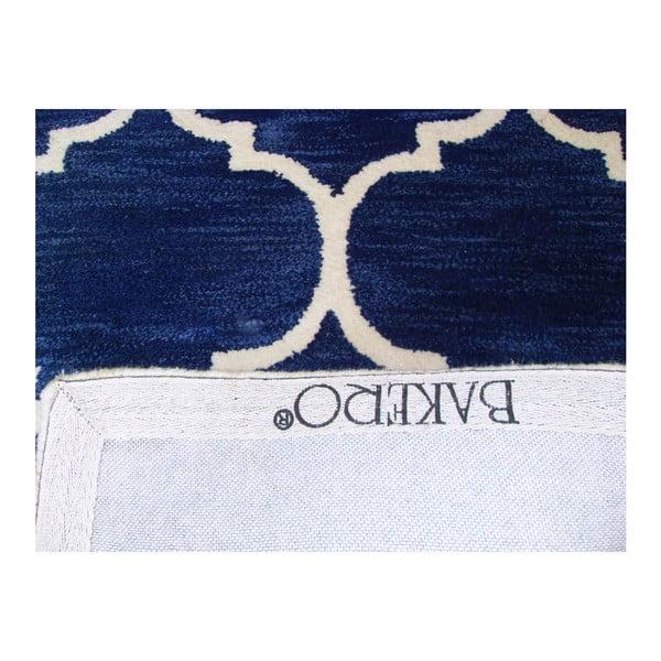 Ručne tuftovaný tmavomodrý koberec Bakero Florida, 78 x 244 cm