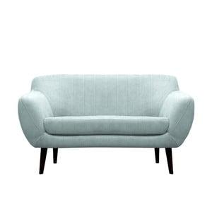 Modrozelená pohovka pre dvoch Mazzini Sofas Toscane, čierne nohy