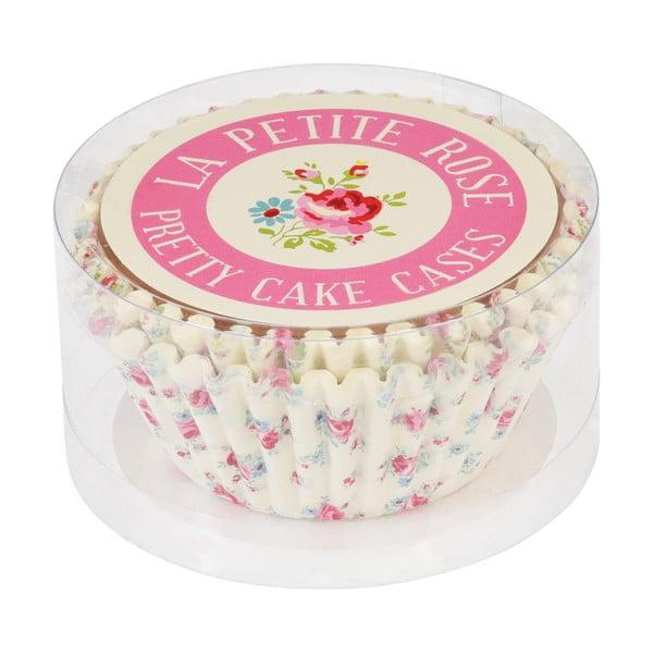 Sada 50 papierových košíčkov na muffiny Rex London La Petite Rose