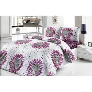 Sada obliečok a plachty Wild Purple Flower, 200x220 cm