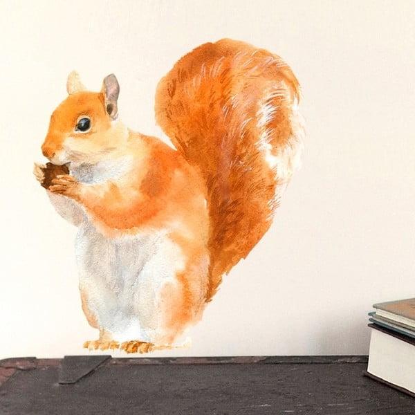 Samolepka na viac použití Red Squirrel Mini, 30x21 cm