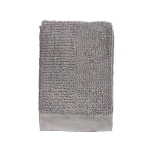 Sivohnedá bavlnená osuška Zone Classic, 70 × 140 cm