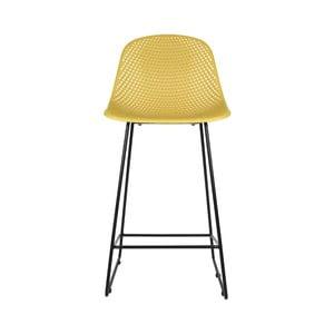 Žltá barová stolička Leitmotiv Diamond Mesh