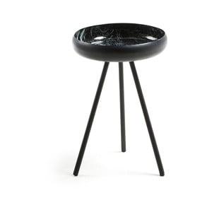 Čierny odkladací stolík La Forma Reuber, ø 36 cm
