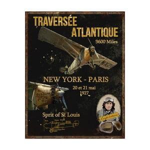 Kovová ceduľa Antic Line St Louis, 28 x 36 cm
