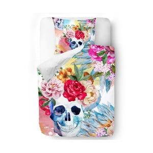 Obliečky Skull in Flowers, 140x200 cm