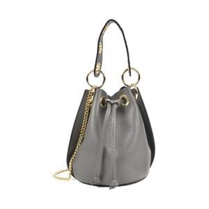 Sivá kožená kabelka Roberta M Callisto Grigio