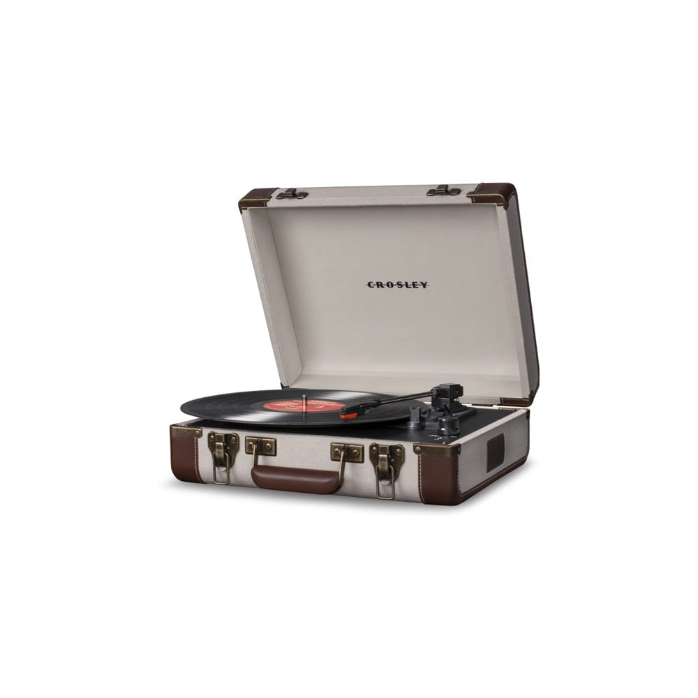 Hnedo-béžový gramofón Crosley Executive