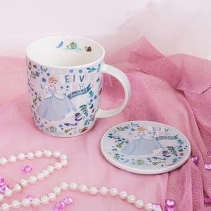 Set keramického hrnčeka a podnosu Disney Cinderella, 400 ml