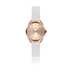 Dámske hodinky s bielym remienkom z pravej kože Frederic Graff Melissa