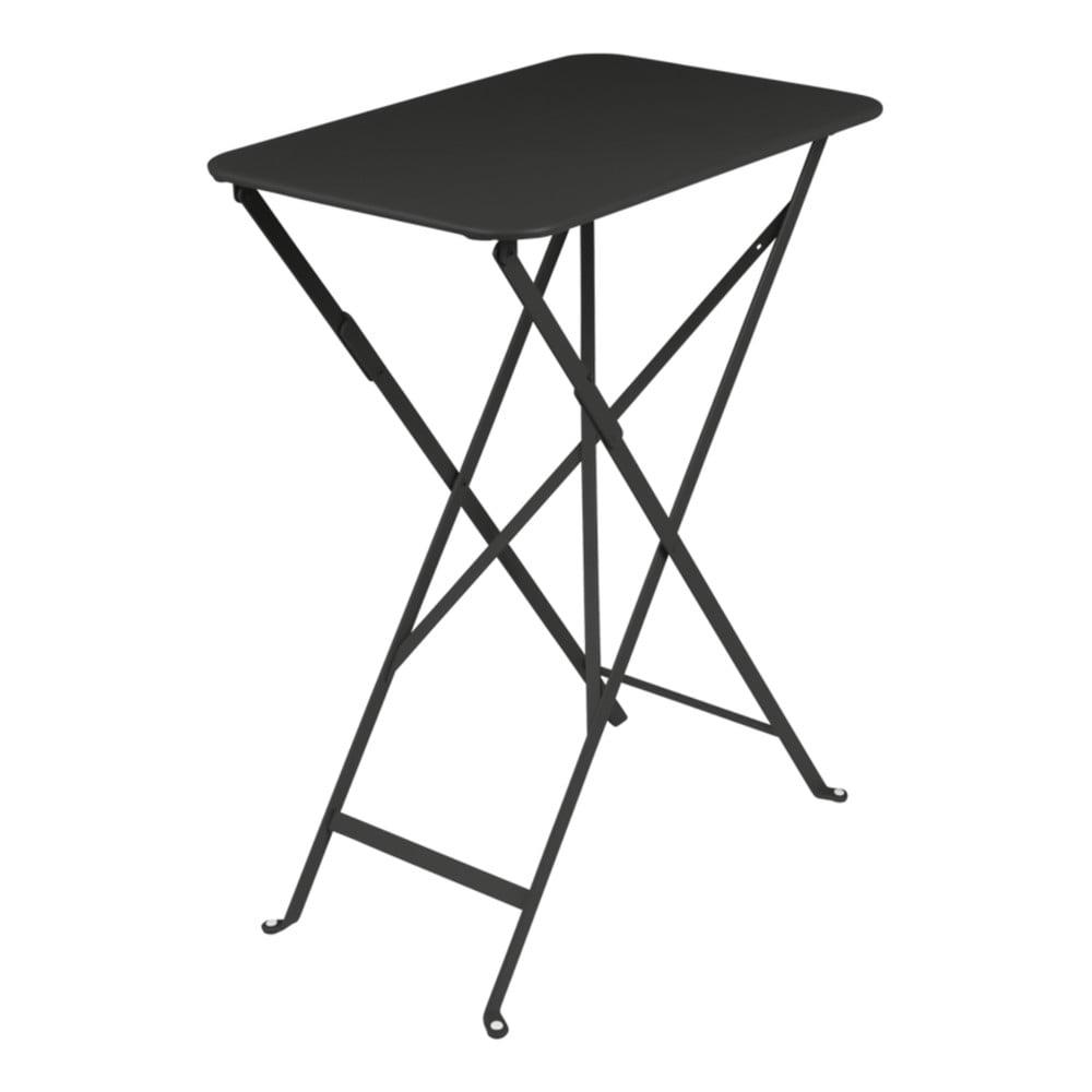 Čierny záhradný stolík Fermob Bistro, 37 × 57 cm