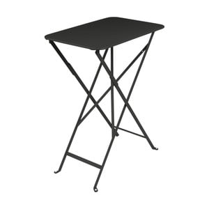 Čierny záhradný stolík Fermob Bistro, 37×57 cm