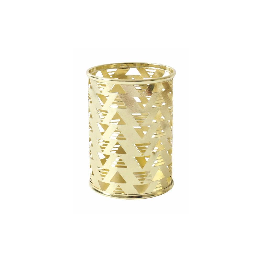 Kovový stojan na ceruzky v zlatej farbe Portico Designs
