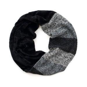 Čierno-sivý okrúhly šál Art of Polo Shadows