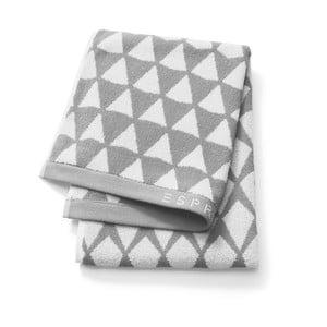 Sivý vzorovaný uterák Esprit Mina, 50x100cm