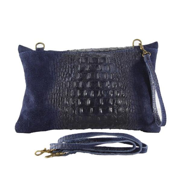 Kožená listová kabelka Wissa, modré