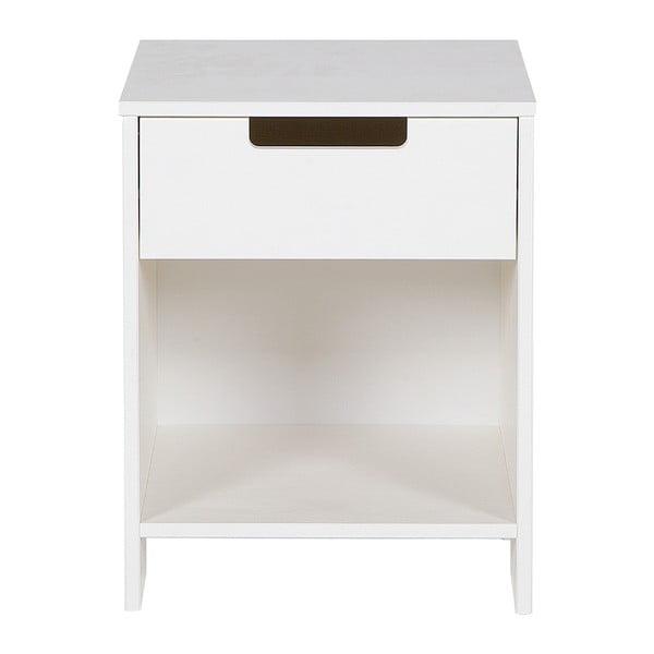 Biely nočný stolík DeEekhoorn Jade
