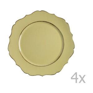 Sada 4 žltých tanierov Blasone