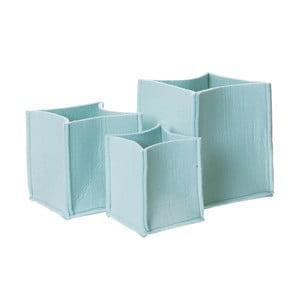 Sada 3 modrých plstených košov PT Mellow