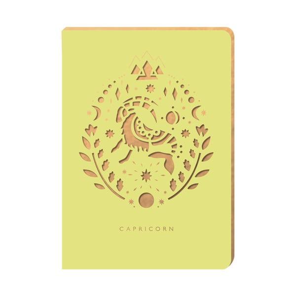 Linajkový zápisník Portico Designs Kozorožec, 124 stránok