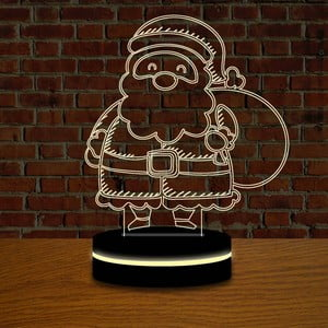 Lampa s 3D efektom Christmas no. 11
