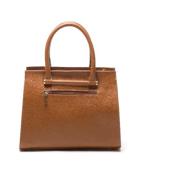 Kožená kabelka Anna Luchini 434 Cognac