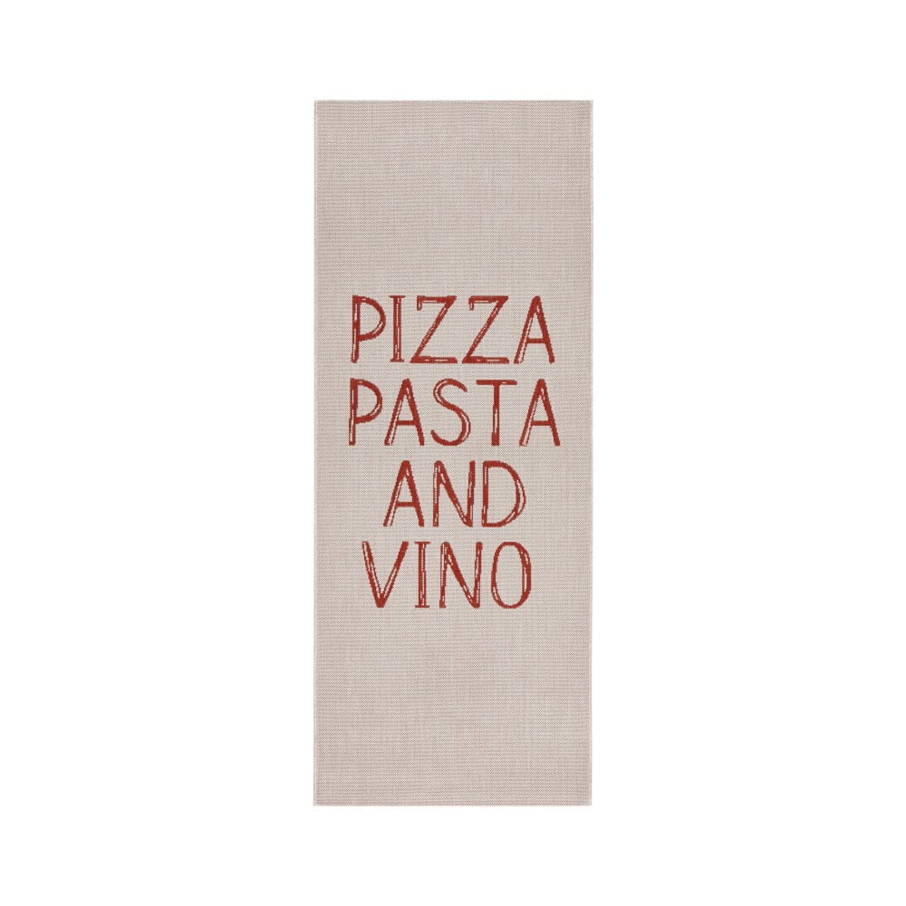 Béžový kuchynský behúň Zala Living Soho Pizza, 80 × 200 cm