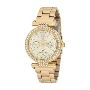 Dámske hodinky zlatej farby z antikoro ocele Bigotti Milano Crystals