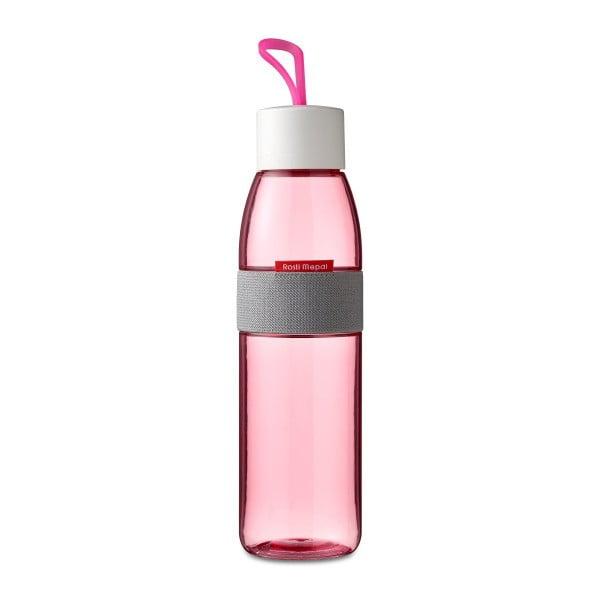 Fuksiová fľaša na vodu Rosti Mepal Ellipse, 500 ml