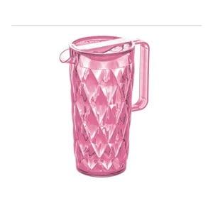 Ružový plastový džbán Tantitoni Crystal, 1,6 l
