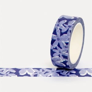 Washi páska U Studio Design Blue Bloom, dĺžka 4 m