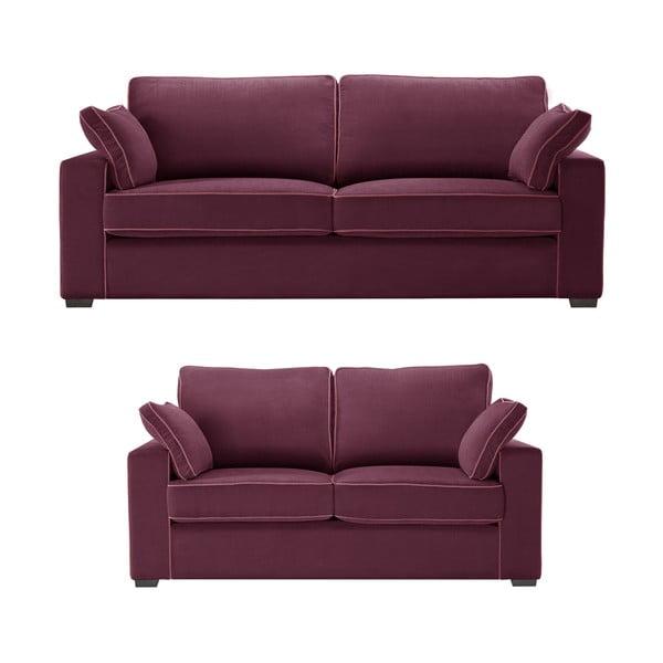 Dvojdielna sedacia súpravaJalouse Maison Serena, vínová
