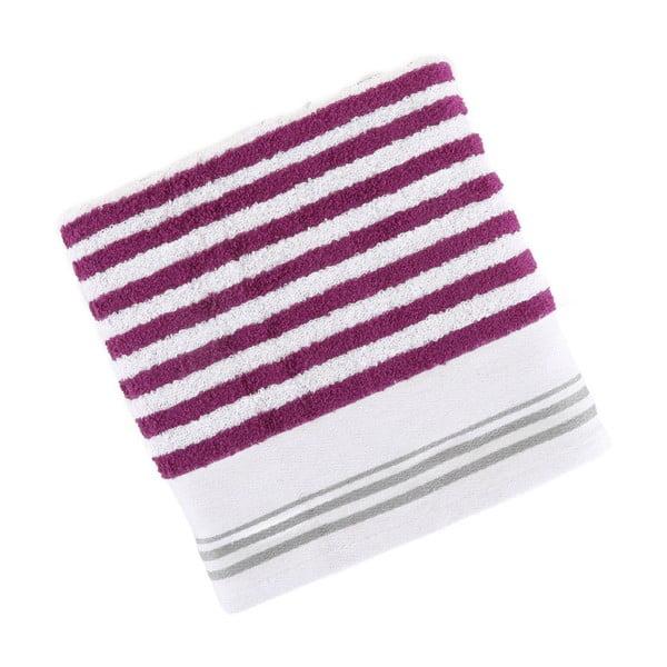 Fialovo-biely bavlnený uterák BHPC Cotton, 50x100 cm