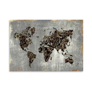 Plagát Americanflat Aurum World, 42 x 30 cm