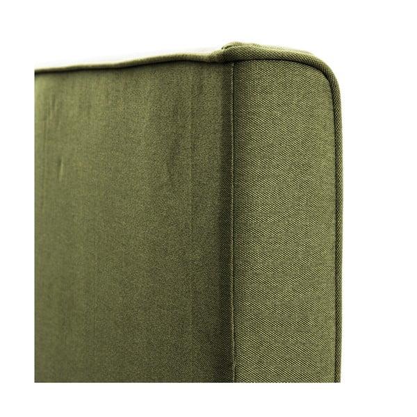 Zelená posteľ Vivonita Kent 140x200cm, prírodné nohy