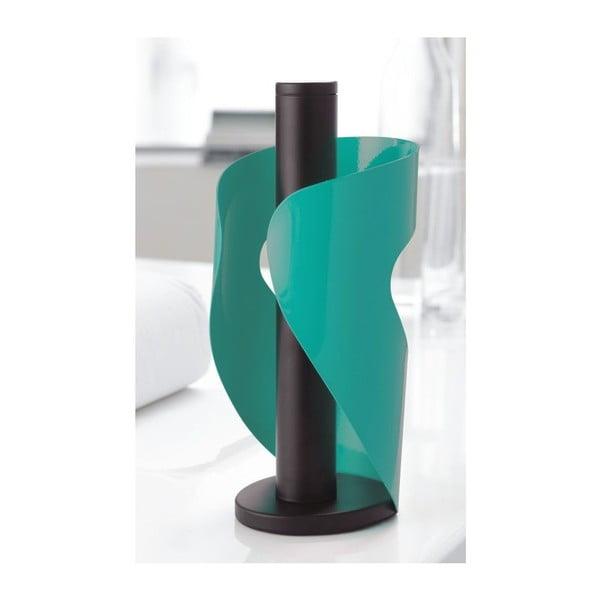 Držiak na servítky Steel Function Pisa, tyrkysový/čierny