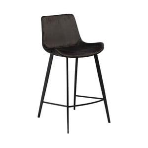 Čierna barová stolička DAN–FORM Denmark Hype Velvet