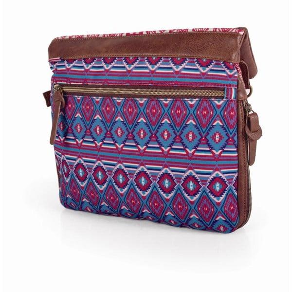 Ružovo-modrá kabelka SKPA-T, 31 x 35 cm