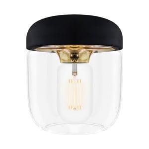 Čierne závesné svietidlo s objímkou zlatej farby VITA Copenhagen Acorn, Ø14 cm