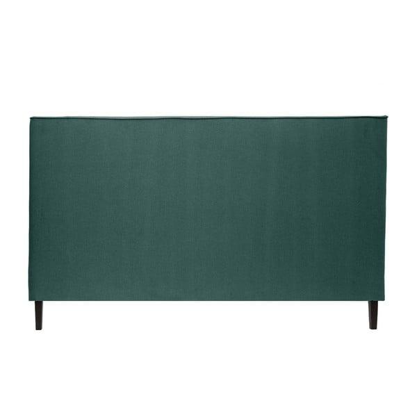 Zelenomodrá posteľ VIVONITA Kent 180x200cm, čierne nohy
