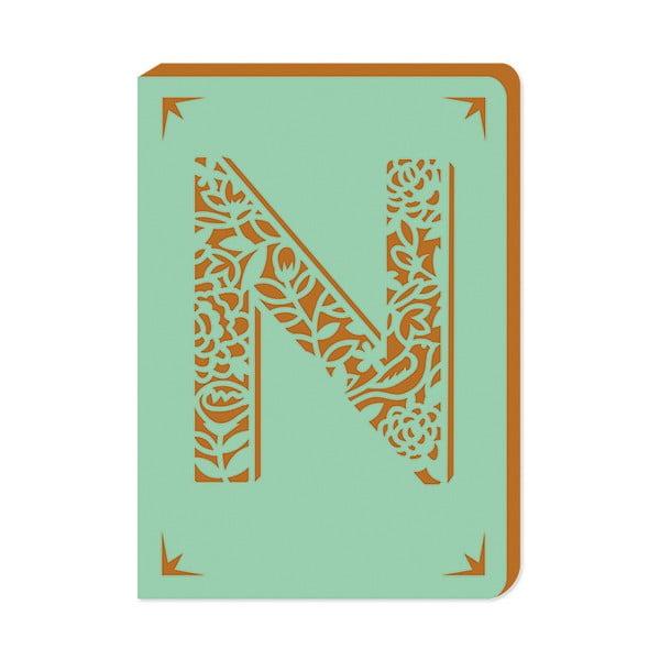 Linajkový zápisník A6 s monogramom Portico Designs N, 160stránok