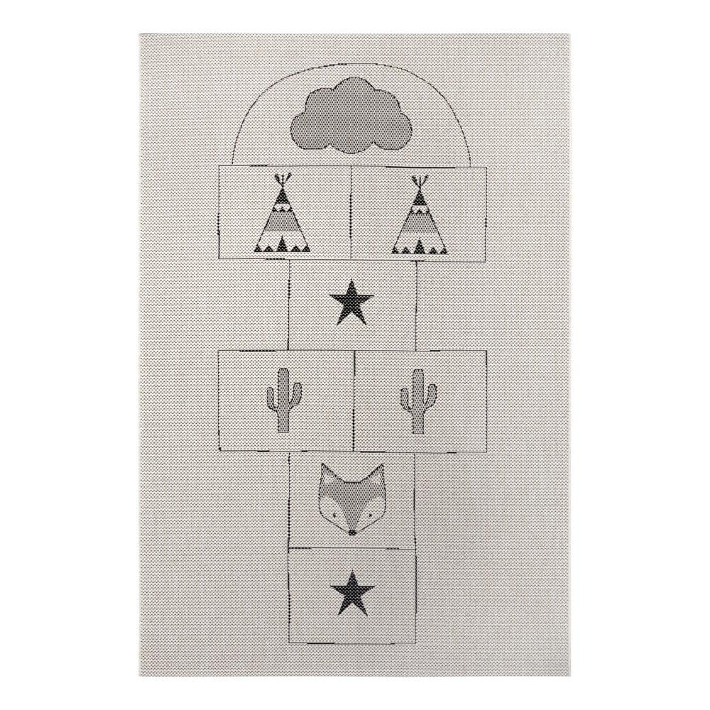 Sivý detský koberec Ragami Games, 200 x 290 cm