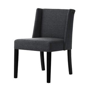 Tmavosivá stolička s čiernymi nohami Ted Lapidus Maison Zeste