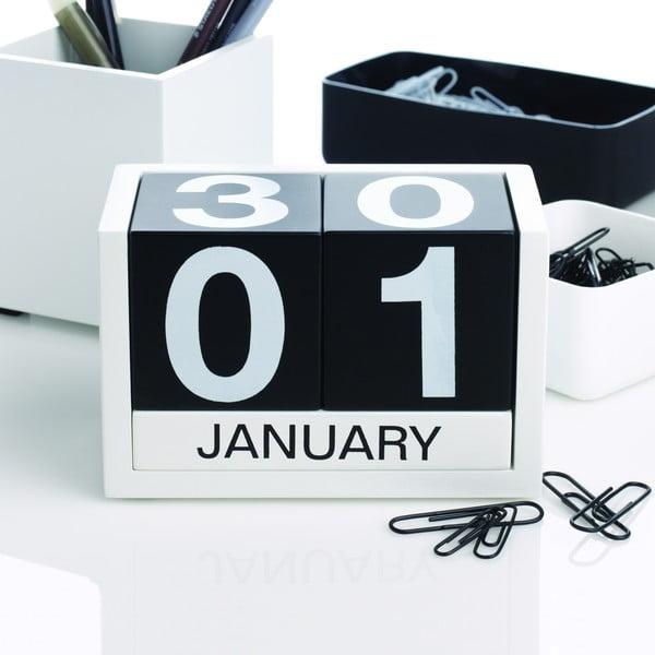 Kalendár Design Ideas ThreeSixFive Black