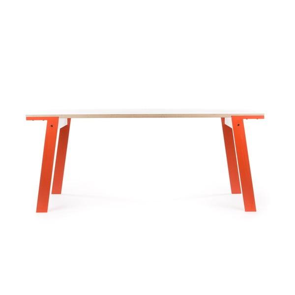Oranžový jedálenský/pracovný stôl rform Flat, doska 150x75cm