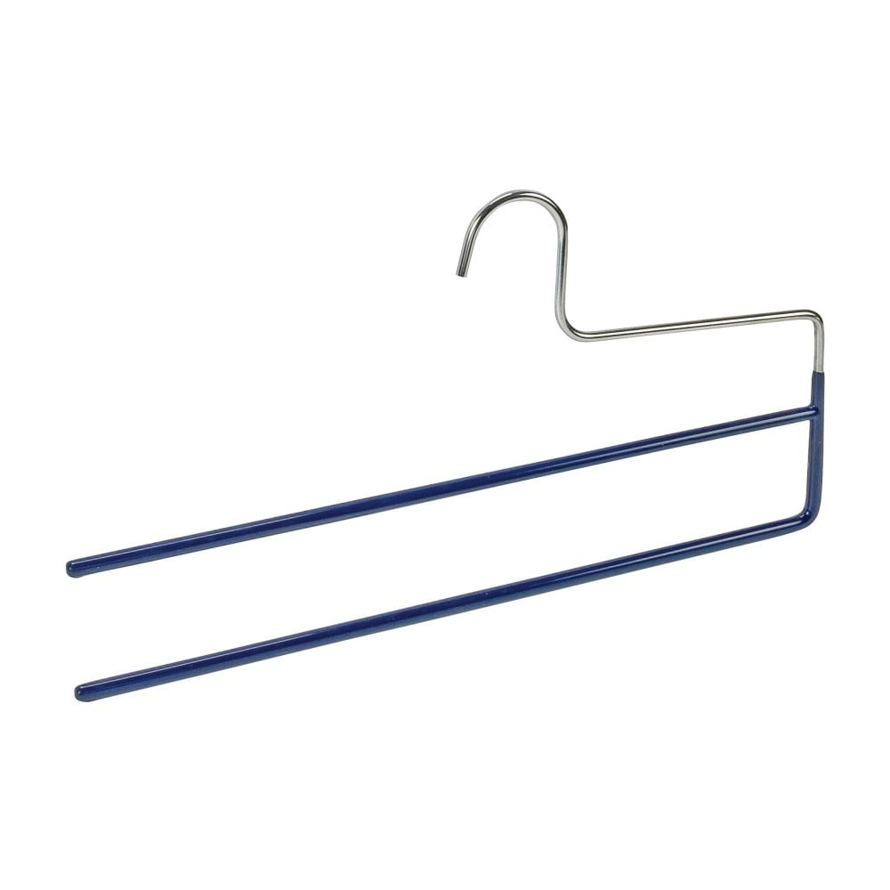 Modrý protišmykový vešiak na nohavice s 2 držiakmi Wenko Hanger Baggy