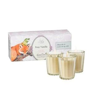 Sada 3 vonných sviečok Foxy Vanilla od Lisbeth Dahl