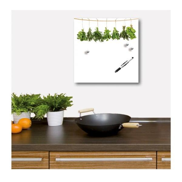 Magnetická tabuľa Hanging Herbs, 30x30 cm